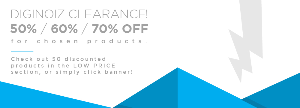 Diginoiz Clearence! 50% / 60% / 70% OFF!