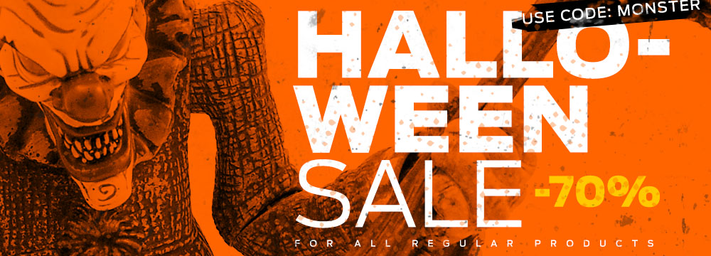 Halloween Sale! -70% For All Regular Products! Use Code: monster during purchase!