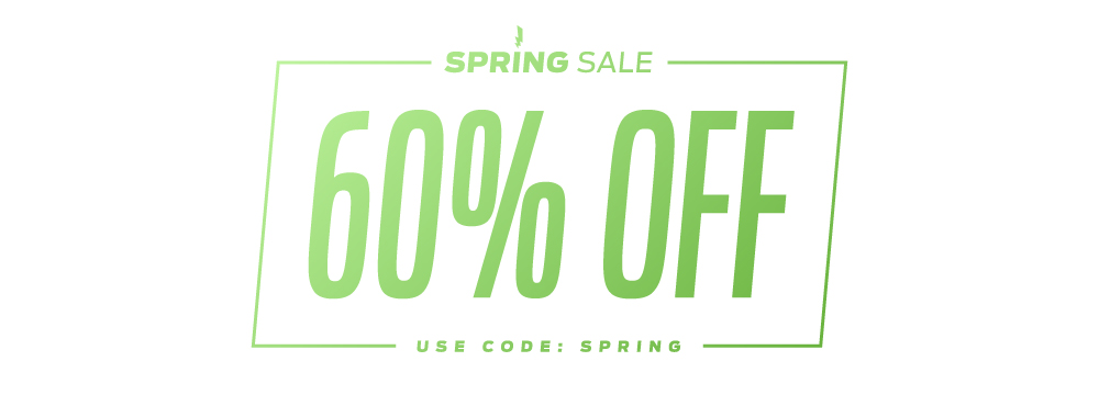 Spring Sale! 60% OFF! Use Code: spring